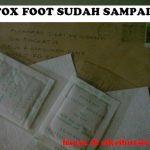 Terima kasih kepada Bro Hazman Fadzil, Detox Foot sudah sampai!