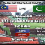 Perlawanan Malaysia VS Pakistan 2011 1ST LEG (kelayakan olimpik 2012), ramalan anda??