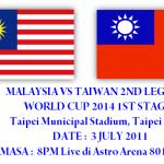 Keputusan terkini malaysia vs taiwan 3 Julai 2011