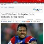 Safee sali di cardiff digelar Beckham Malaysia (waahh!!)