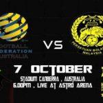 Keputusan terkini Malaysia vs Australia (friendly) 7 oktober 2011