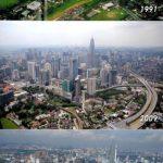 Gambar Kuala lumpur tahun 1991, 2009 dan 2011.