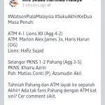 Keputusan suku akhir kedua, piala malaysia 2013