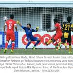 Harimau muda terkandas lagi, tewas dengan singapura 2-1, sukan sea 2013