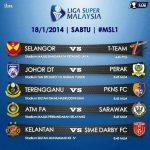 Jadual penuh liga super 18 januari 2014