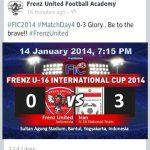Keputusan frenz indonesia u16 vs iran u16 FIC CUP 2014