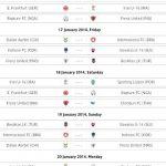 Jadual penuh perlawanan frenz international cup u-16, 2014