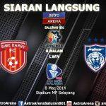 Jdt vs sime darby 8 mac 2014