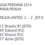Keputusan jdt ll vs felda united 7 mac 2014