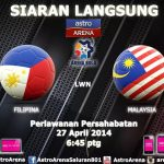 Keputusan perlawanan Malaysia vs filiphina persahabatan 27.04.2014