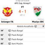Keputusan selangor vs Mazlya src 23.04.2014