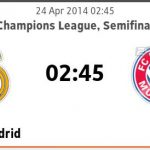 Keputusan perlawanan real madrid vs bayern munich 24.04.2014 first leg semi final ucl
