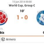 Keputusan columbia vs greece 15 jun2014