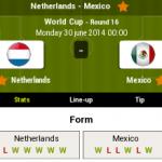 Keputusan terkini holland(netherlands) vs mexico 30.06.2014