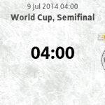 Keputusan terkini brazil vs germany 09.07.2014