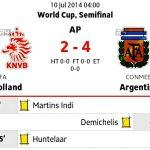 Keputusan separuh akhir Argentina vs netherlands 10.07.2014
