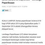 Soalan upsr sains 2014 bocor!!