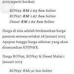 Harga rasmi minyak febuari 2015