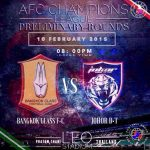 JDT VS BANGKOK GLASS FC 10.02.2015 play off afc