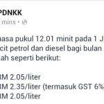 Harga minyak ron 95,97 dan diesel 1jun 2015