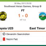 Ulasan perlawanan malaysia u23 vs timor leste u23, 30/5/2015