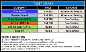 price tiket,