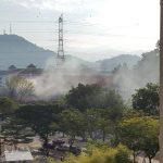 (Gambar/Video)Gerabak Tren LRT Terbakar di Stesen Setiawangsa & Stesen Universiti