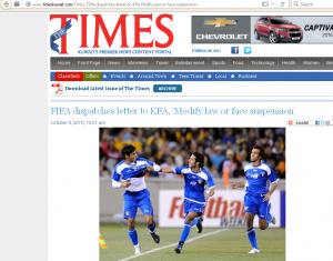 kuwait dibanned dari fifa, alqadisya dibanned, jdt mara ke final, jdt menang percuma,