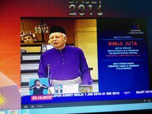 budget 2015, gambar najib bentang bajet 2016,