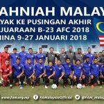 Malaysia juara kumpulan H, layak ke pusingan akhir piala afc b23 2018!!