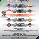 Jadual penuh sukan sea,acara bola sepak 2017