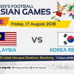 Live streaming Malaysia u23 vs Korea Selatan u23 asian games 17.8.2018