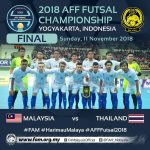 Live streaming final futsal malaysia vs thailand aff 2018