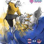 Harimau Malaya jinakkan Gajah Perang , separuh akhir aff suzuki cup 2018!!