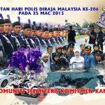 Selamat hari polis yang ke 206, 2013