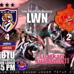 Keputusan Johor Darul Takzim 4 VS 2 kelantan, suku akhir1 piala malaysia 2013
