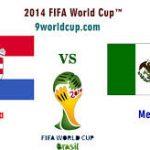 Keputusan perlawanan piala dunia mexico vs croatia 24 jun 2014