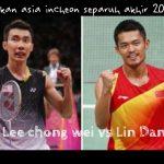 Keputusan terkini lee chong wei vs lindan separuh akhir badminton sukan asia incheon28.09.2014