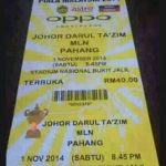 Info tiket final jdt vs pahang 1 november 2014