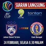 Keputusan terkini jdt vs east bengal 25/2/2015 afc cup group F