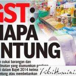 Update Isu GST ( April 2015) topup, rokok, parking,