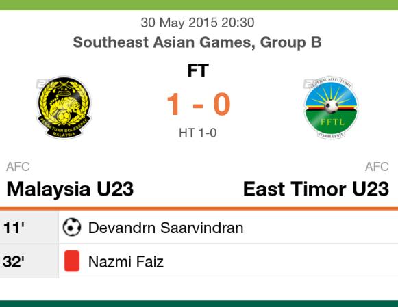 keputusan malaysias u23 vs timor leste u23
