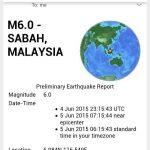 Gambar kesan gempa bumi di sabah!