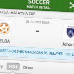 Keputusan terkini JDT vs Felda united first leg piala malaysia 2015