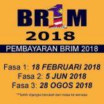 Jadual penuh pembayaran brim (Br1m)dan cara nak tengok status brim 2018