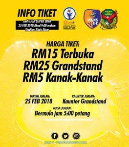 info tiket, pkns vs kedah, poster kedah vs pkns 2018,