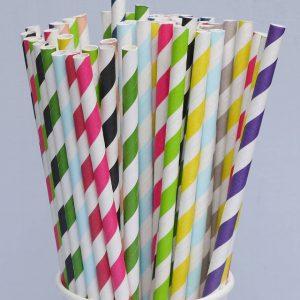 straw kertas,