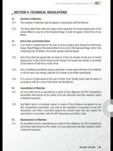rules fifa aggregate