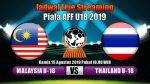 malaysia vs thailand, live streaming malaysia u18 vs thailand u18 23.11.2019
