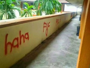 vandalism, conteng,